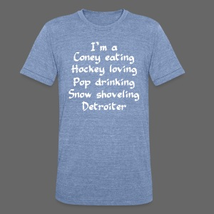 Coney Eating Hockey Loving - Unisex Tri-Blend T-Shirt by American Apparel