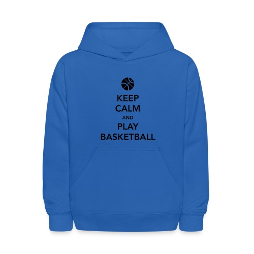 Keep calm and play basketball hoodie-UNISEX - Kids' Hoodie