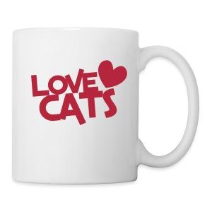 Love Cats - Coffee Mug (pink) - Coffee/Tea Mug