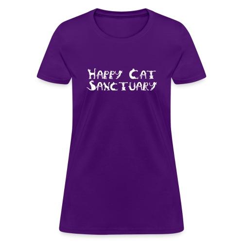Happy Cat Sanctuary Cat Lettering Women's Tee - Women's T-Shirt