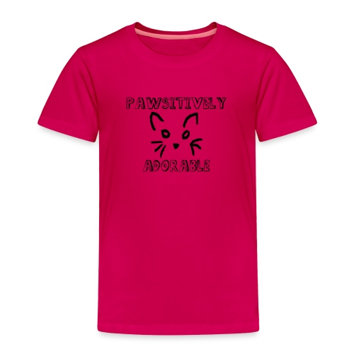 Pawsitively Adorable Unisex Kids Tshirt - Toddler Premium T-Shirt