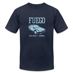 Rogue Fuego With (Light Blue/Teal) - Men's T-Shirt by American Apparel