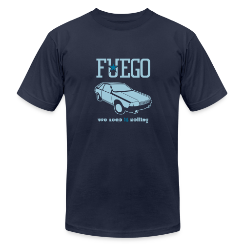 Rogue Fuego With (Light Blue/Teal) - Men's Fine Jersey T-Shirt