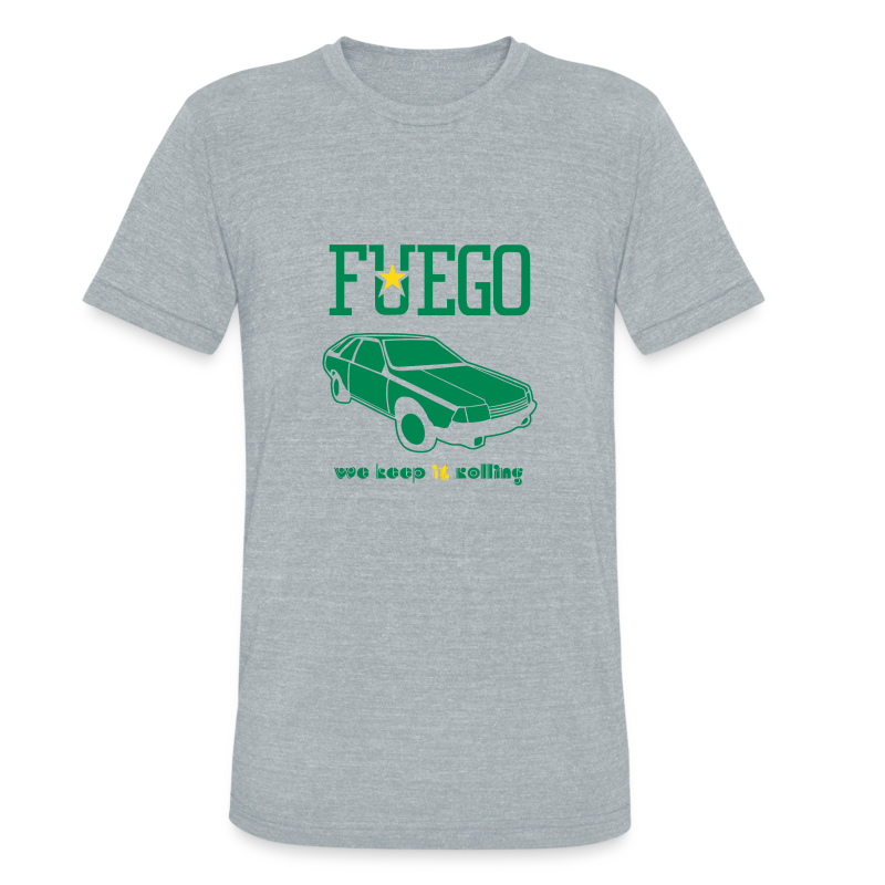 Rogue Fuego With (Green/Gold) - Unisex Tri-Blend T-Shirt by American Apparel