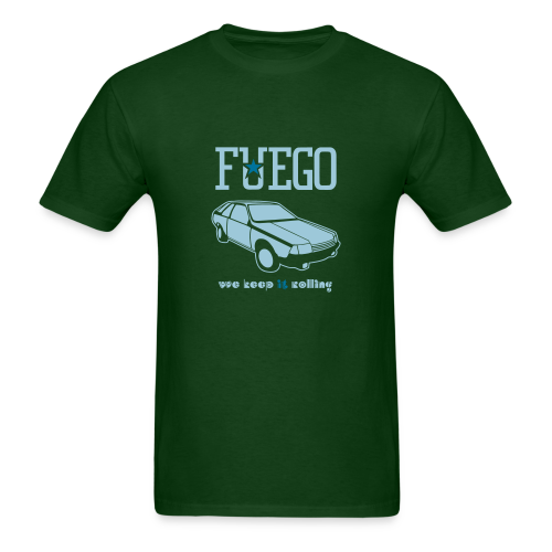 Rogue Fuego With (Light Blue/Teal) - Men's T-Shirt