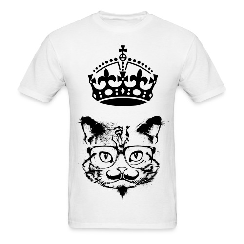 Mustache King Kat - Men's T-Shirt