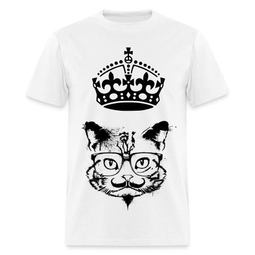 Mustache King Kat - Men's T-Shirt