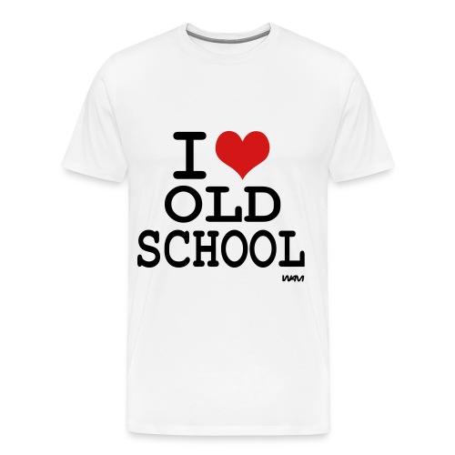 I Love Old School  - Men's Premium T-Shirt