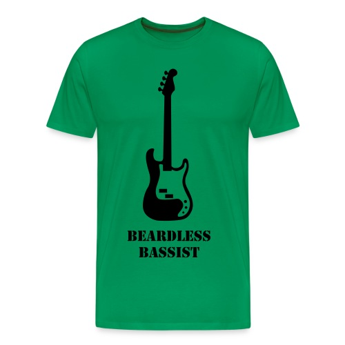 Green bassist shirt BEARDLESS BASSIST - Men's Premium T-Shirt