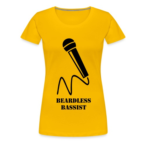 Yellow singer shirt BEARDLESS BASSIST - Women's Premium T-Shirt