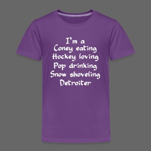 Coney Eating Hockey Loving - Toddler Premium T-Shirt