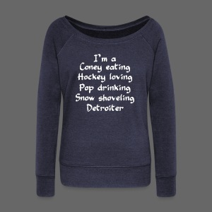 Coney Eating Hockey Loving - Women's Wideneck Sweatshirt