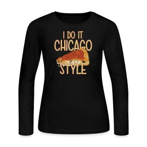 Chicago Style Pizza - Women's Long Sleeve Jersey T-Shirt