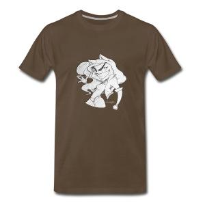 ScribbleNetty (Grayscale) - Men's T-shirt - Men's Premium T-Shirt