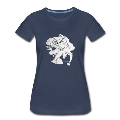 ScribbleNetty (Grayscale) - Women's T-shirt - Women's Premium T-Shirt