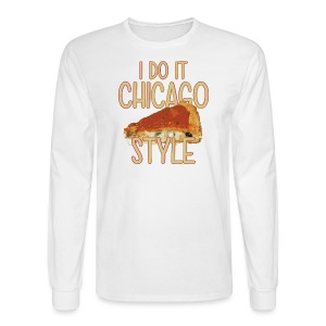 Chicago Style Pizza - Men's Long Sleeve T-Shirt