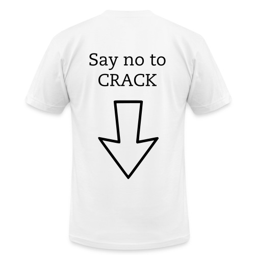 Say no to Crack - Men's  Jersey T-Shirt