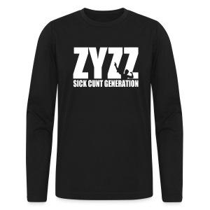 Long Sleeve T-Shirt Zyzz Sickkunt Generation - Men's Long Sleeve T-Shirt by Next Level