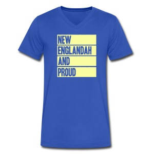 New Englandah And Proud - Men's V-Neck T-Shirt by Canvas
