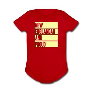 New Englandah And Proud - Short Sleeve Baby Bodysuit