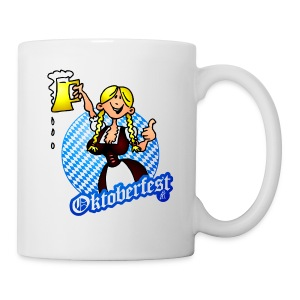 Oktoberfest - girl in a dirndl Bottles & Mugs - Coffee/Tea Mug