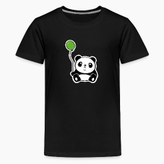 Panda with ballon Kids' Shirts