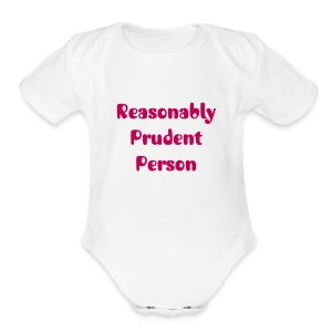 Reasonably Prudent Person baby one piece | The Lawyer Mommy - Short Sleeve Baby Bodysuit