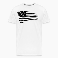 Vintage American Flag Tactical Subdued T-Shirts