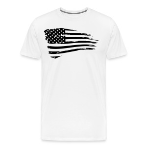 Vintage American Flag Tactical Subdued - Men's Premium T-Shirt