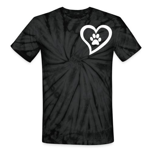 Tie Dye I Heart Pets - Unisex Tie Dye T-Shirt