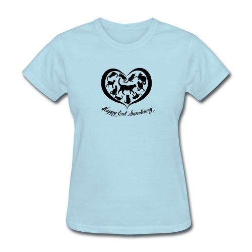 Happy Cat Heart Shirt - Women's T-Shirt