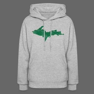 Distressed Upper Peninsula  - Women's Hoodie