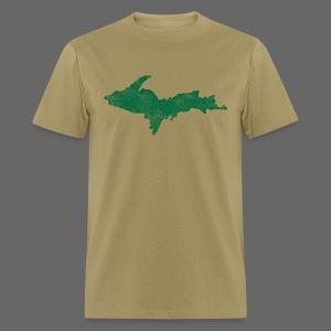 Distressed Upper Peninsula  - Men's T-Shirt