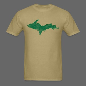 Distressed Upper Peninsula  - Men's T-Shirt