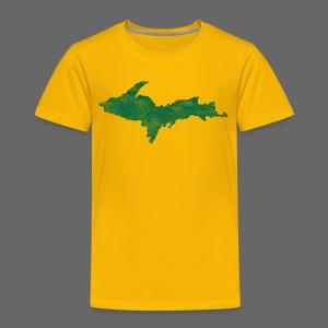 Distressed Upper Peninsula  - Toddler Premium T-Shirt