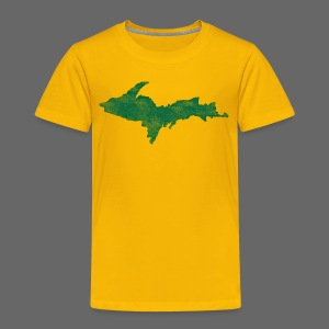 Distressed Upper Peninsula  - Toddler Premium T-Shirt