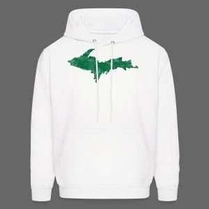 Distressed Upper Peninsula  - Men's Hoodie