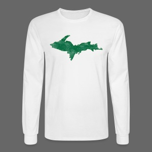 Distressed Upper Peninsula  - Men's Long Sleeve T-Shirt
