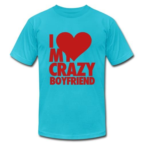 I Love my crazy Boyfriend (Gay) - Men's Fine Jersey T-Shirt