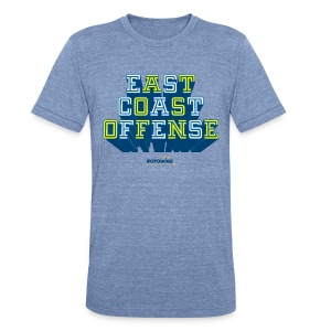 East Coast Offense - Unisex Tri-Blend T-Shirt by American Apparel