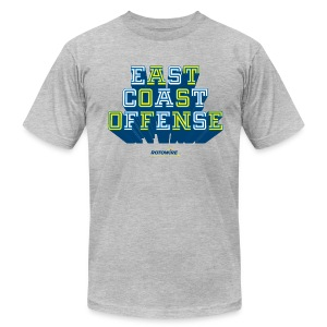 East Coast Offense - Men's T-Shirt by American Apparel