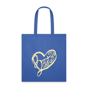 A Boston Script Heart - Tote Bag