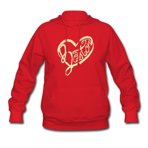 A Boston Script Heart - Women's Hoodie