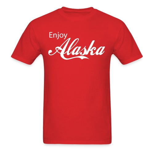 enjoy alaska - Men's T-Shirt
