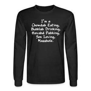 Chowdah Eating Bubblah Drinking - Men's Long Sleeve T-Shirt