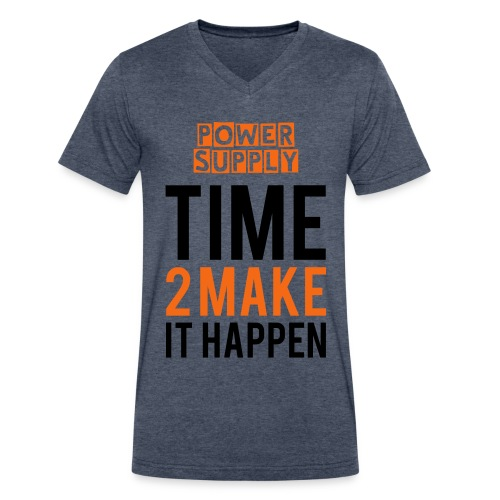Official Time 2 Make it Happen T-Shirt ( Power Supply) - Men's V-Neck T-Shirt by Canvas