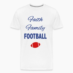 faith family football fan T-Shirts