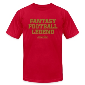 Fantasy Football Legend (Metallic Gold) - Men's T-Shirt by American Apparel