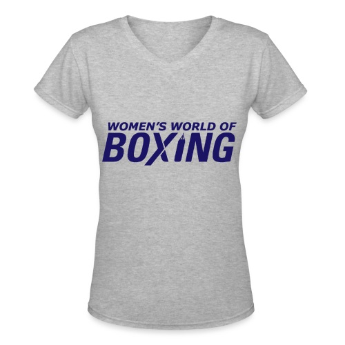 Women's V-Neck T-Shirt - Boxing T-Shirts,Boxing Tee Shirts,Case,Custom Made T-Shirts,Custom Made Tee Shirts,Gifts,No Bully Zone,Novelty T-Shirts,Personalized T-Shirts,Personalized Tee Shirts,Women's T-Shirts,Women's Tee Shirts,iPad,iPhone