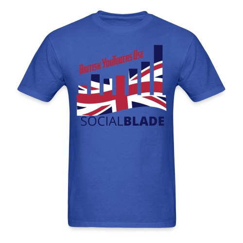Social Blade British YouTuber T-Shirt - Men's T-Shirt